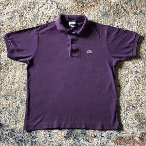 Purple Lacoste Polo